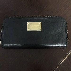 Michael Kors zip leather wallet
